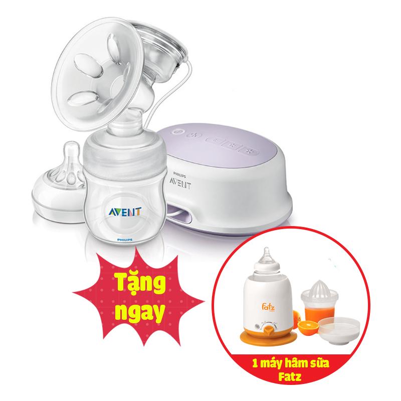 Máy hút sữa bằng điện và pin Avent (tặng máy hâm sữa Fatzbaby)