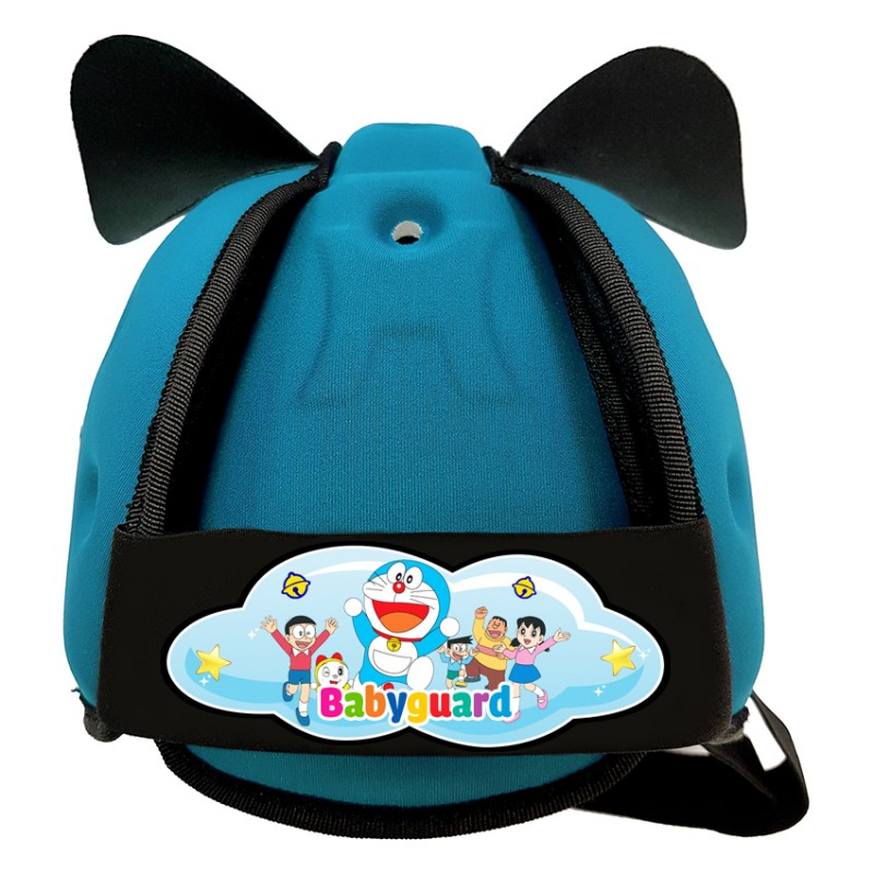 Mũ Bảo Vệ Đầu Cho Bé BabyGuard (Xanh Ngọc) logo Doremon 02