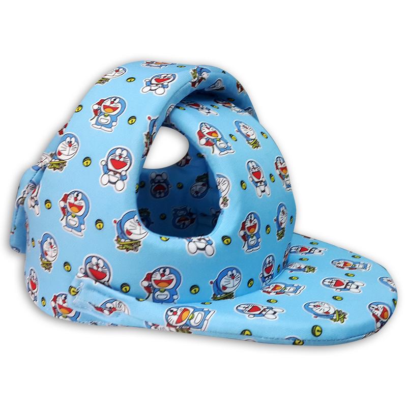 Nón bảo hiểm Babyguard Handmade - Mũ tập đi ( Màu xanh Doremon)