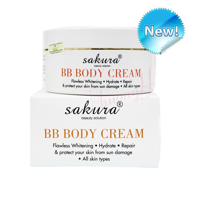 Kem Dưỡng Trắng Da Và Trang Điểm Nhẹ Toàn Thân Sakura Skin Whitening BB Body Cream