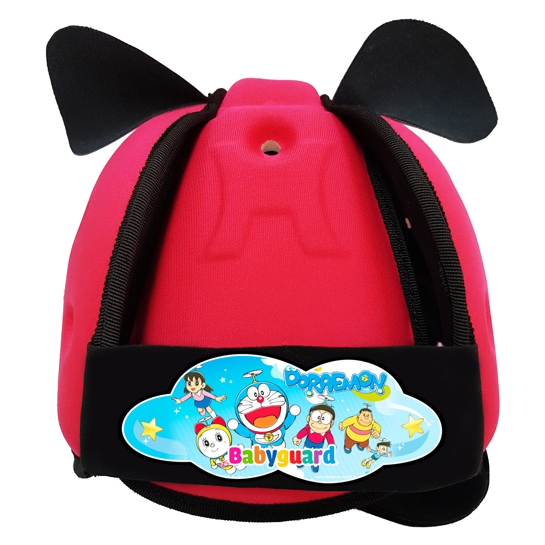 Mũ bảo vệ đầu cho bé BabyGuard (Hồng) logo Doremon 03
