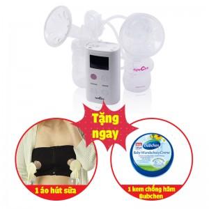 Máy hút sữa điện đôi Spectra 9S ( tặng áo hút sữa rảnh tay + Kem Chống Hăm Bubchen 150ml)
