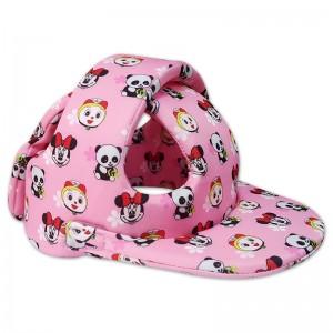 Nón bảo hiểm Babyguard Handmade - Mũ tập đi ( Màu hồng hình thú)