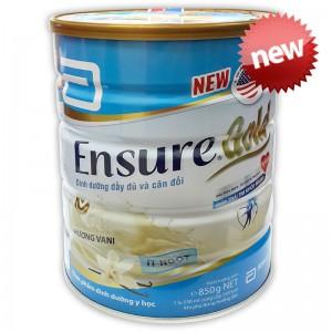 Sữa Ensure Gold ít ngọt hương Vani 850g