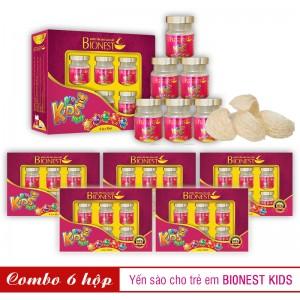 Bộ 6 Yến sào Bionest Kids cao cấp - Quà tặng cho bé biếng ăn