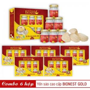 Bộ 6 Yến sào Bionest Gold cao cấp - hộp quà tặng 6lọ