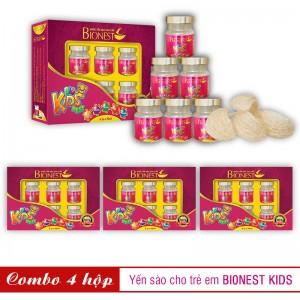 Bộ 4 Yến sào Bionest Kids cao cấp - Quà tặng cho bé biếng ăn
