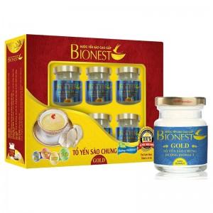 Hộp Yến sào Bionest Gold Isomalt cao cấp (dành cho người tiểu đường) - hộp quà tặng 6 lọ