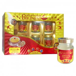 Hộp Yến sào Bionest Plus cao cấp15% - 6 lọ
