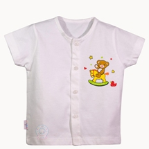 Áo Bin ngắn trắng (Size 1,2)