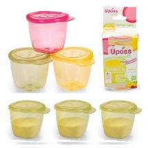 Bộ 3 hộp đựng thức ăn có nắp UPASS HỮU CƠ - Màu lá