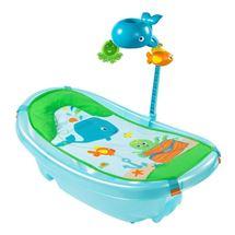 Chậu tắm có lưới đỡ và thanh đồ chơi Summer (xanh)