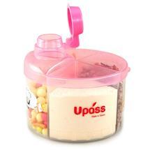 Hộp chia sữa tròn 4 ngăn không BPA mầu hồng NEW Uapss
