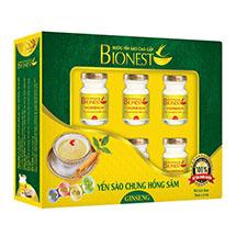Hộp yến sào cao cấp BioNest Ginseng 6 hủ