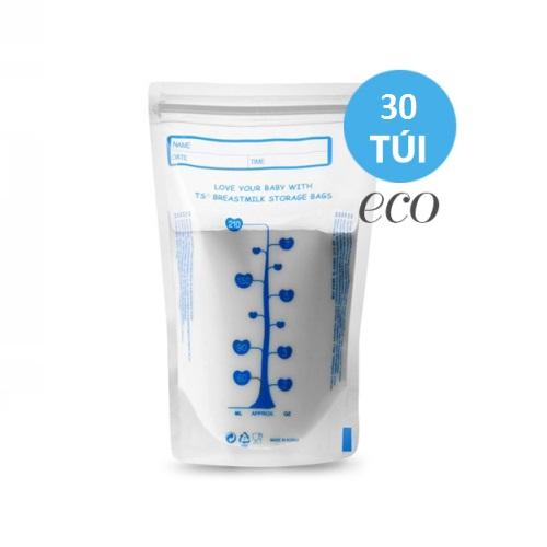 Túi trữ sữa tiết kiệm eco - Unimom không BPA (30 túi – 210ml) -NEW